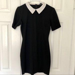 White collar mini dress